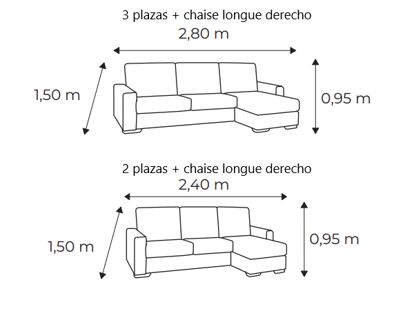 sofá chill 2-3 plazas + chaise longue